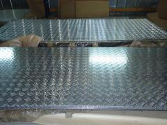 Алюмінієвий лист рифлений квінтет 3мм 1х2м 1,25х2,5м 1,5х3м