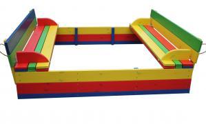 Дитячий комплект - 1 пісочниця з кришкою і столик з лавочками