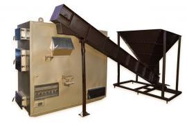 Котел повітряного опалення з автоматичною подачею тріски, тирси